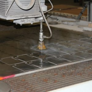 Aluminum water jet cutting
