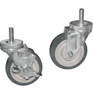 Stem Casters with Grey Polyurethane Wheels