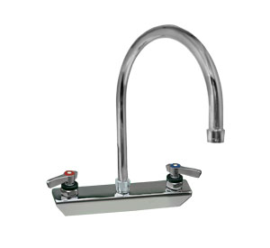 Encore 8 in Splash Mount Faucet 8-1/2 in spout length