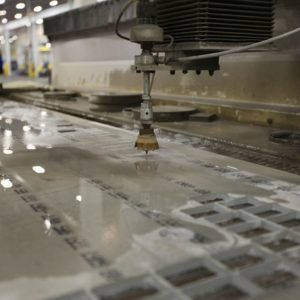 glass water jet cutting services