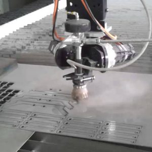 Stainless steel water jet cutting