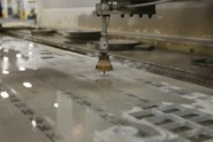 Glass water jet cutting